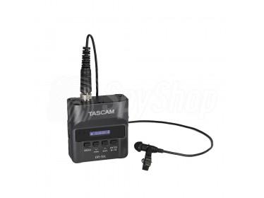 Digitální diktafon s drátovým mikrofonem Lavalier - Tascam DR-10L