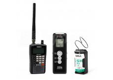 Sada pro bezdrátový odposlech WSR-1: rádiová štěnice 5KL, přijímač Uniden a diktafon k záznamu zvuku