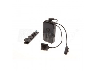 Špionážní souprava PVU-18 se skrytou kamerou v knoflíku a DVR rekordérem pro diskrétní nahrávání schůzek