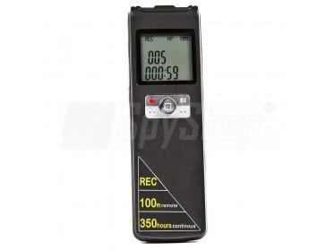 Digitální diktafon s externím mikrofonem DVR-308A – dálkový odposlech do 100 metrů